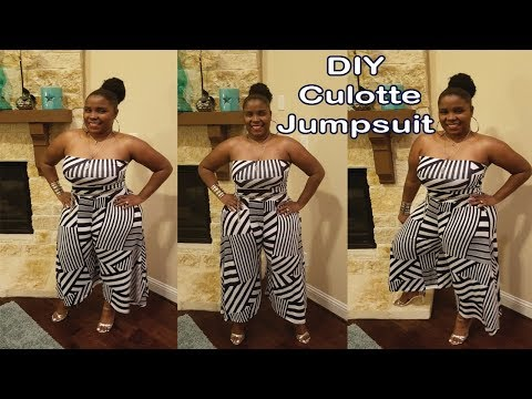 DIY Culotte Jumpsuit With Tube Top| How to sew a jumpsuit easy