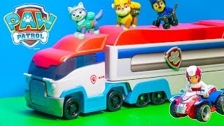 Unboxing the Paw Patroller Semi-Truck with Rubble and Everest Toys