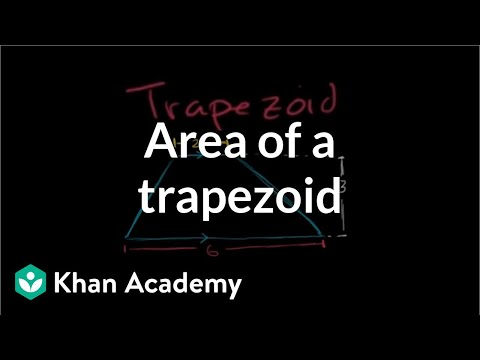Area of trapezoids (video) Khan Academy