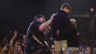 Lee Brice's Boys Surprise Him On Stage In Evansville, IN
