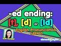 نطق الافعال المنتهية ب ed || تمارين ed ending: