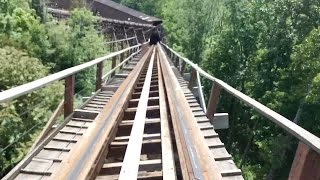 The Beast Kings Island POV On-Ride Roller Coaster CLASSIC Woodie