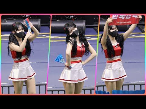 [4K] 치어리더 이다예 직캠 (cheerleader) - 1세트 응원 @남자배구경기/201118/Fanca…