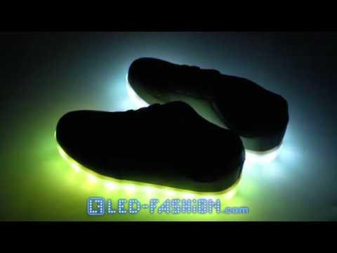 Schwarze LED-Schuhe Sneaker LED-Fashion Berlin