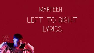 Marteen   Left To Right [Lyrics]