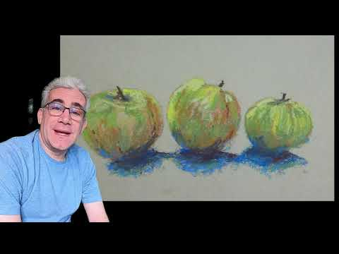 Thumbnail of Beginner Pastels - Easy steps to paint a 3 Apples