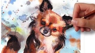 HOW TO PAINT A DOG PORTRAIT IN 6 STEPS! // BEGINNER WATERCOLOR TUTORIAL