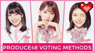 PRODUCE48 VOTING METHODS