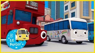10 Little Buses - Part 1 | Little Baby Bus | Nursery Rhymes | Songs for Kids