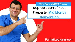Mid Month Convention   Depreciation of Real Property   TCJA 2017   Income Tax Course