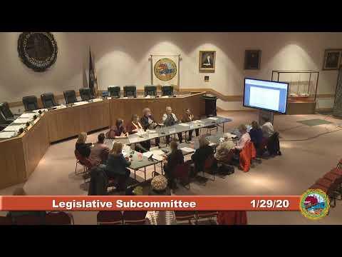 Legislative Subcommittee 1.29.2020