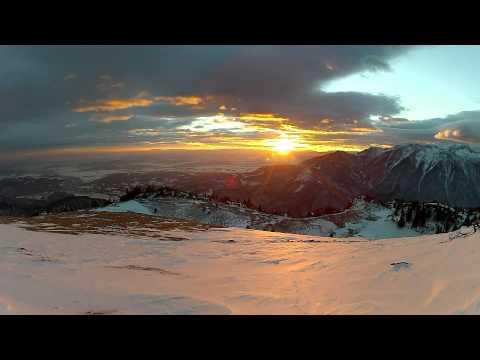Sončni zahod na Veliki planini