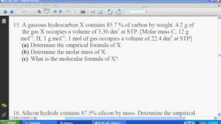 SPM Chemistry Empirical Formula Worksheet 4 Solution #6