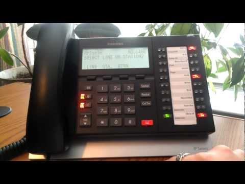 How to Place a Conference Call from Toshiba Telephones ACC Telecom Video