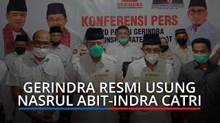 Nasrul Abit-Indra Catri Resmi Diusung Gerindra Maju Pilgub Sumbar 2020