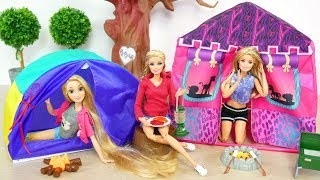 Gambar cover Barbie Doll Camping Tent Gear Playset boneka Barbie berkemah Tenda Boneca Barraca de Acampamento