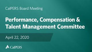 Performance, Compensation, & Talent Management Committee on April 22, 2020