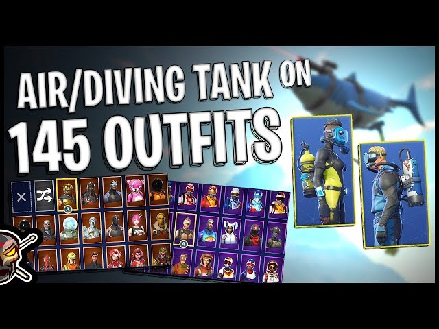 Air Tank/Diving Tank Back Bling on 145 Outfits | Wreck Raider | Reef Ranger -  Fortnite Cosmetics
