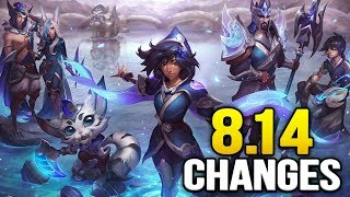 25 new changes coming soon in Patch 8.14 (League of Legends)