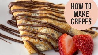 Basic French Crepes Recipe - Crepe Batter Just In A Minute... || Easy CookBook