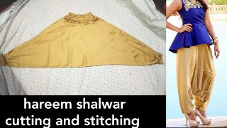 Harem Pants And Salwar Cutting And Stitching In Hindi  Urdu Step  By Step