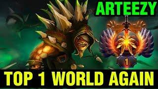 TOP 1 WORLD AGAIN - Arteezy Bristleback - TOP 1 IMMORTAL RANK - Dota 2