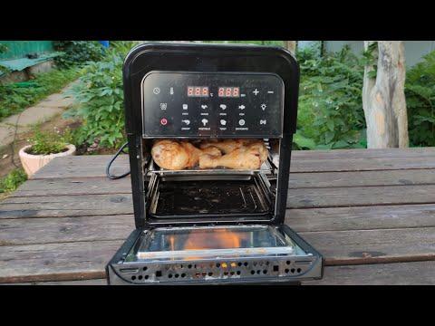 Куриные крылья и голень в аэрофритюрнице BioloMix Chicken wings and drumsticks in an air fryer