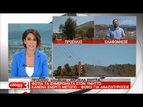 Κανένα ενεργό μέτωπο στον Υμηττό- Βαρύ πλήγμα για την Ελαφόνησο | 12/08/2019 | ΕΡΤ