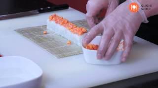 """Смотреть онлайн Рецепт приготовления роллов """"Майами"""""""