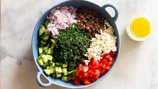 Easy Lentil Salad | Perfect Prep Ahead Lunch