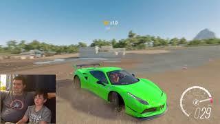 Forza Horizon 3 Ferrari vs Construction Site- Oh Shiitake Mushrooms Gaming
