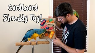 Parrots Love Chewing Cardboard Shreddy Toy