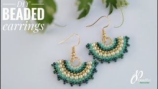Brick Stitch Earrings | Easy To Make Gorgeous Earrings | How To Make Earrings | DIY Beaded Earrings