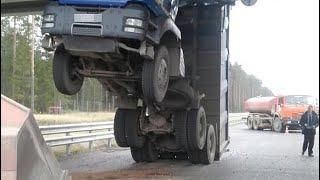 Шокирующие Аварии Грузовиков. Отказ Тормозов. Сука Жесть. Truck Crash Compilation (18+)