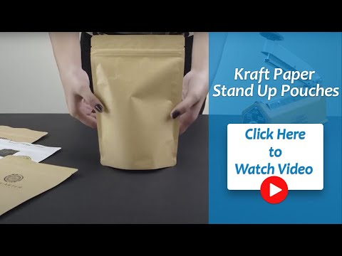 Kraft Paper Stand Up Pouch
