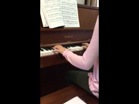 Good student playing a Minuet