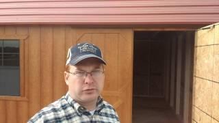 12x24 Side Loft Barn Tour