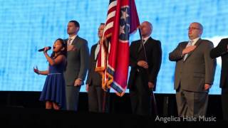 Angelica Hale Singing USA National Anthem - Aflac Focus 2017