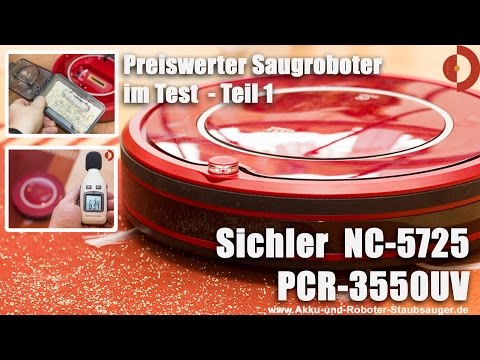 Sichler NC 5725 PCR 3550UV Staubsaugerroboter Teil1-Test