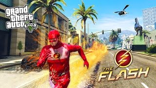 GTA 5 PC Mods - THE FLASH MOD w/ SUPER SPEED! GTA 5 The Flash Mod Gameplay! (GTA 5 Mods Gameplay)