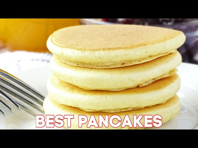 Easy Fluffy Pancakes (VIDEO)