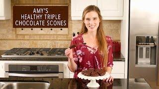 Healthy Triple Chocolate Scones   Amys Healthy Baking