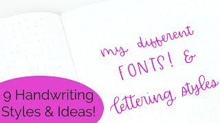 Hand Lettering Fonts! My Favorite 9 Handwriting Styles | Bullet Journal Fonts & Lettering Ideas