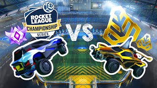 PROS vs GOLDS but the Golds just have to touch the ball - Rocket League Experiments 1