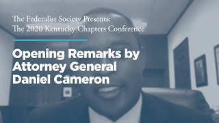 Click to play: Opening Remarks by Attorney General Daniel Cameron