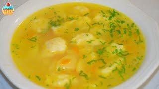 Ну, оОчень вкусный - Куриный суп с Клецками!