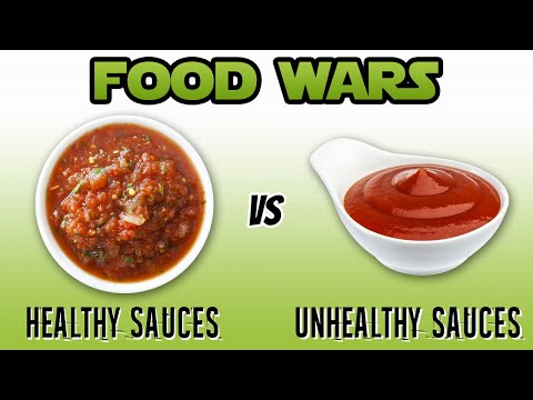 Video Food Wars: Healthy Sauces vs Unhealthy Sauces - Live Lean TV