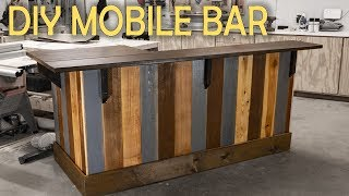How To Build A Mobile In-Home Bar | Woodworking