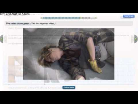 Heartsaver First Aid CPR AED Online Part 1 Demo - YouTube