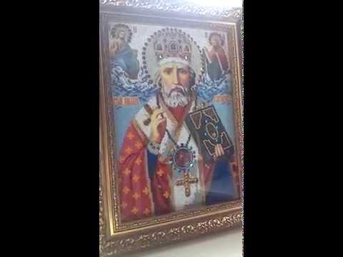завершение иконы Николай Чудотворец